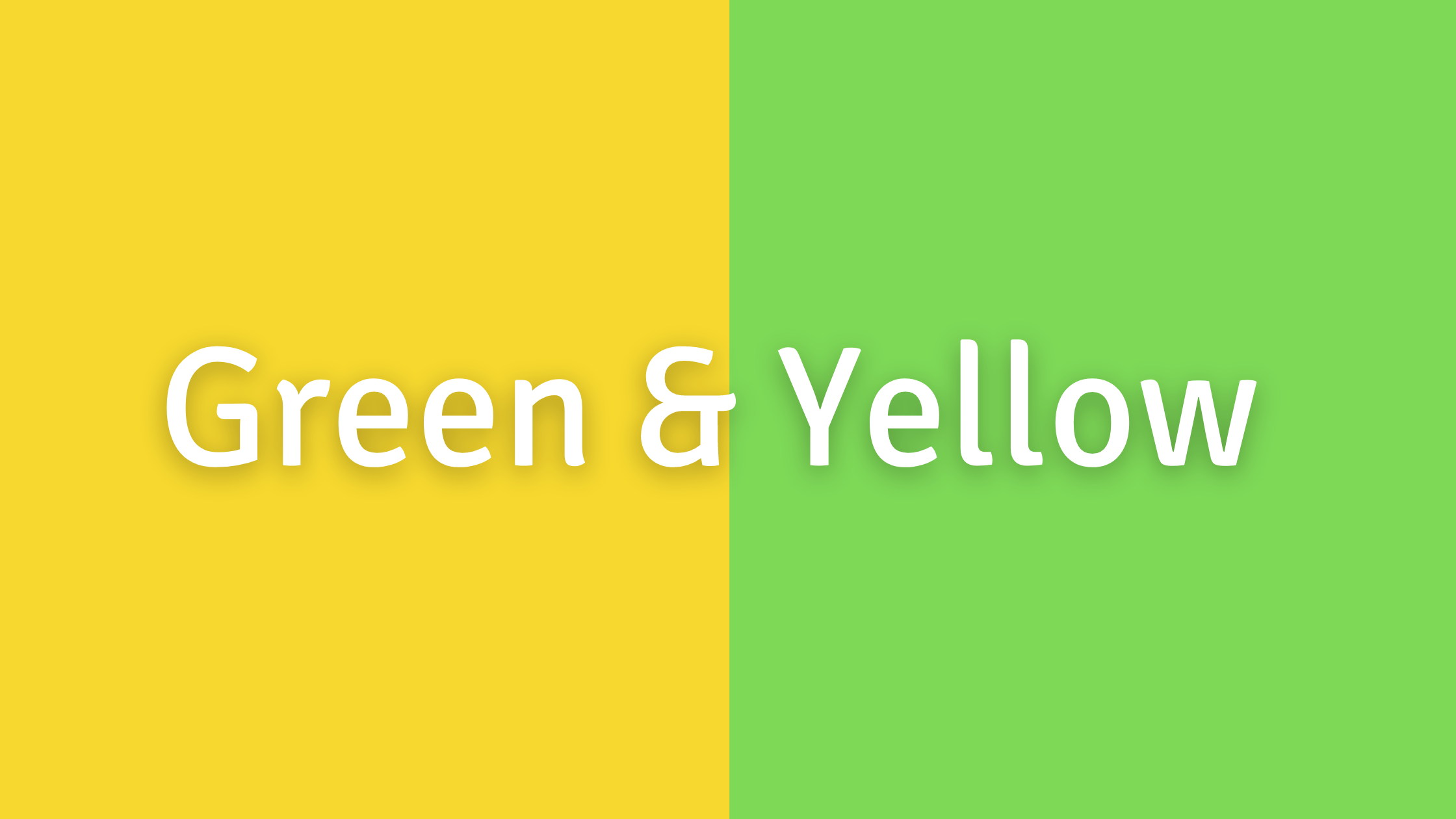 Green, Yellow, and Orange Color Combos to Avoid: Green and Yellow