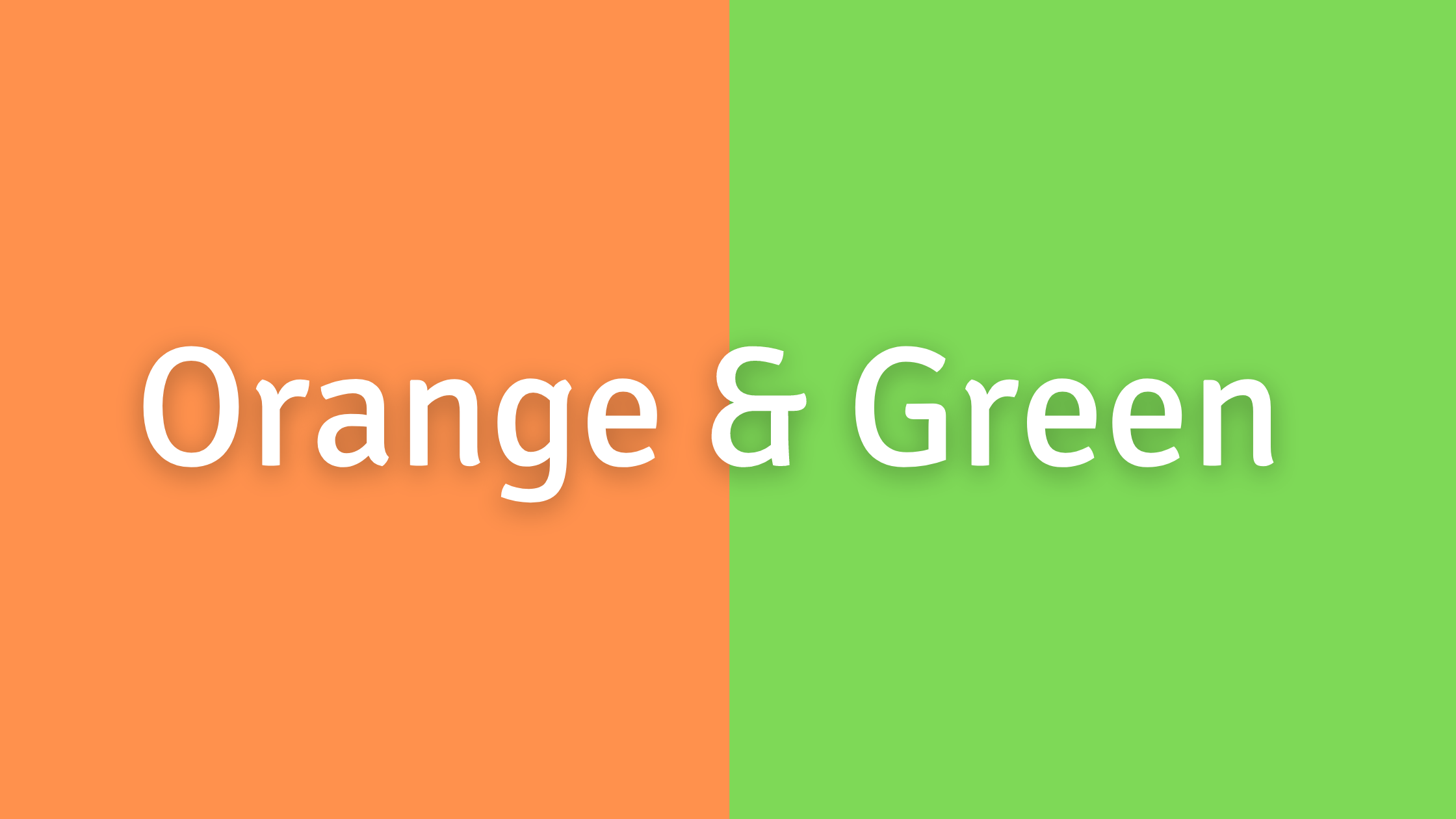 Green, Yellow, and Orange Color Combos to Avoid: Green and Orange