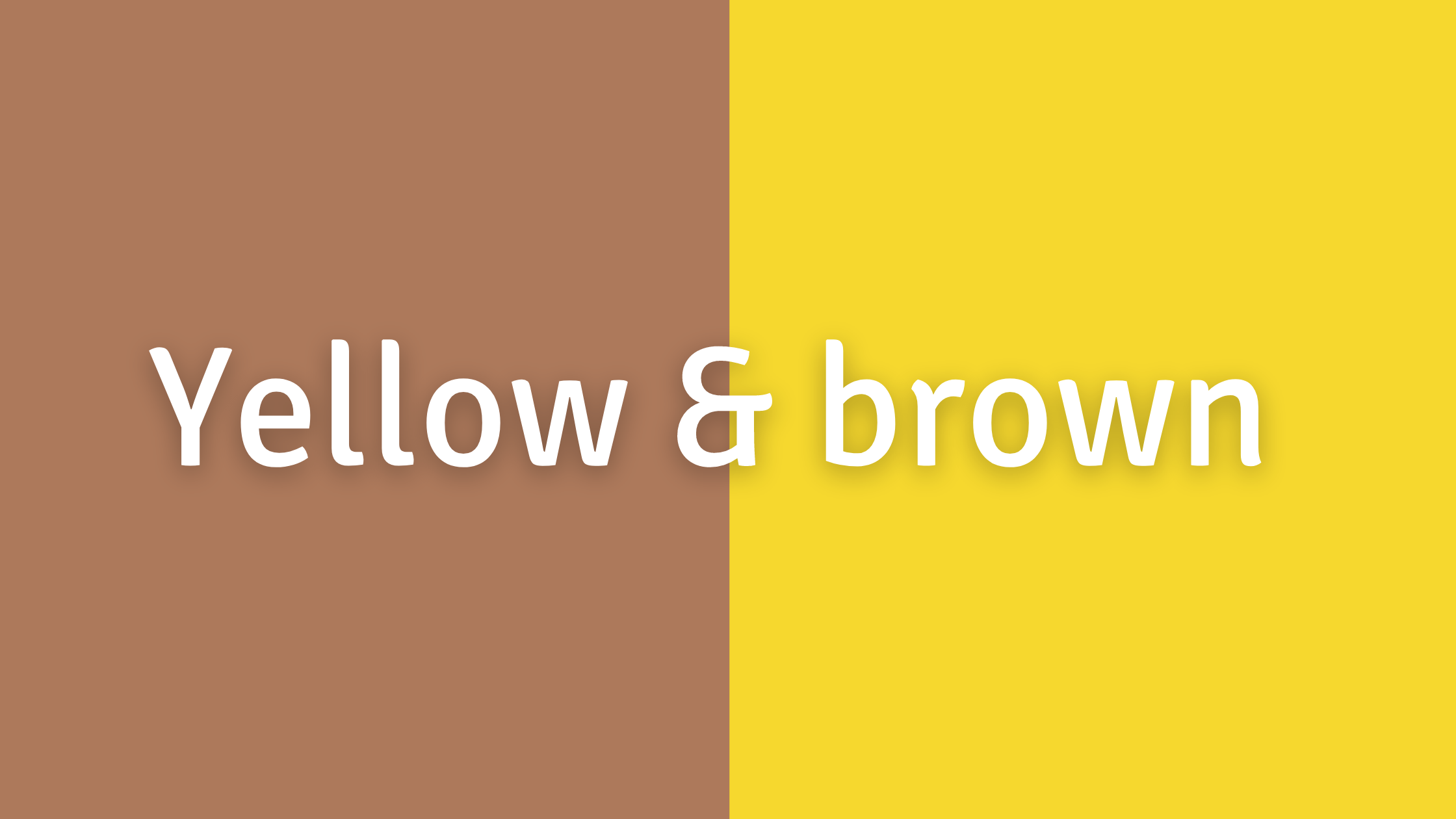 Green, Yellow, and Orange Color Combos to Avoid: Yellow and Brown