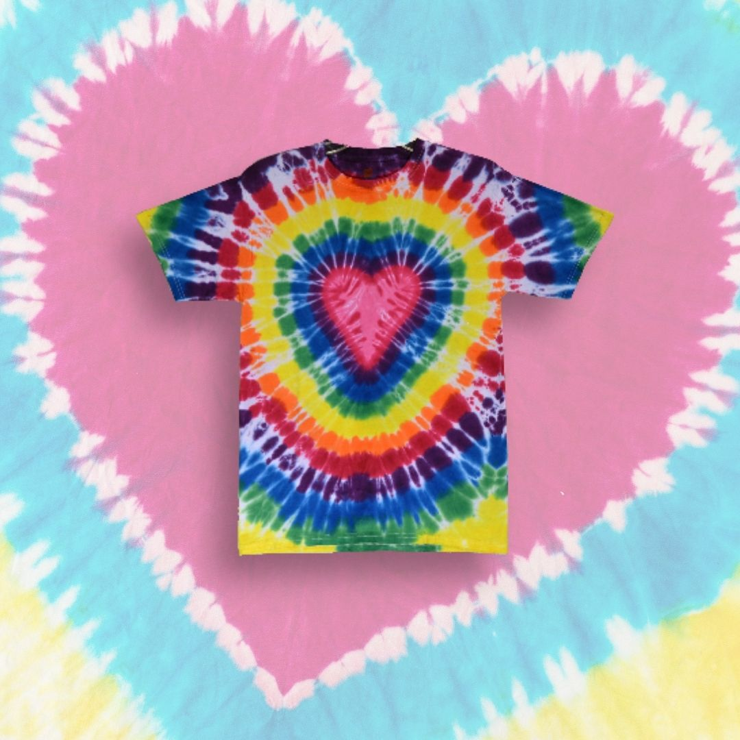 Easy to Make Heart Tie-Dye Pattern