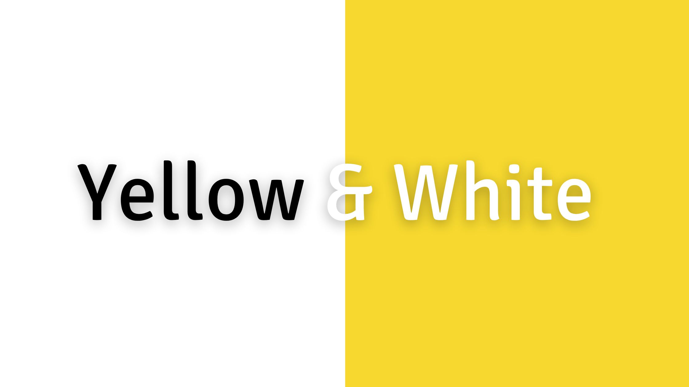 Green, Yellow, and Orange Color Combos to Avoid: Yellow and White