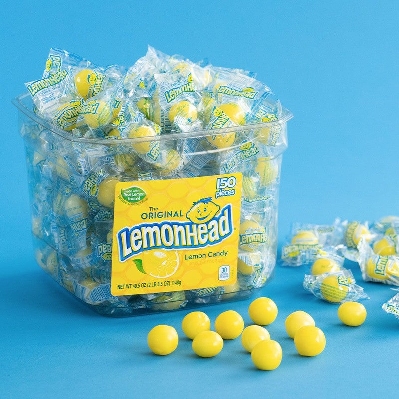 The Best Shades of Yellow to Use for Packaging: Lemon Heads Logo