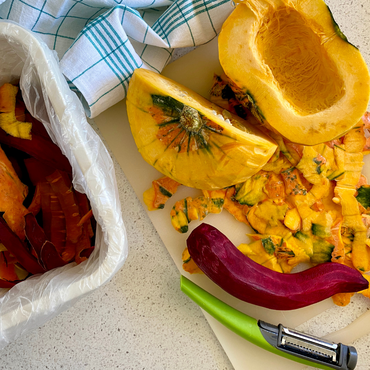 How to Dehydrate Food: Peel Vegetables and Fruits