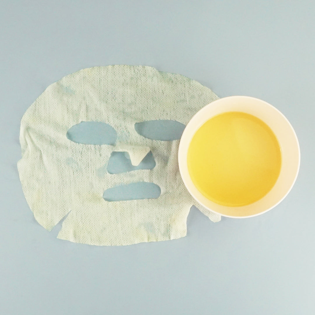 How to Make Your Own Hydrating Anti-Age Sheet Mask: Place Mask into Mixture