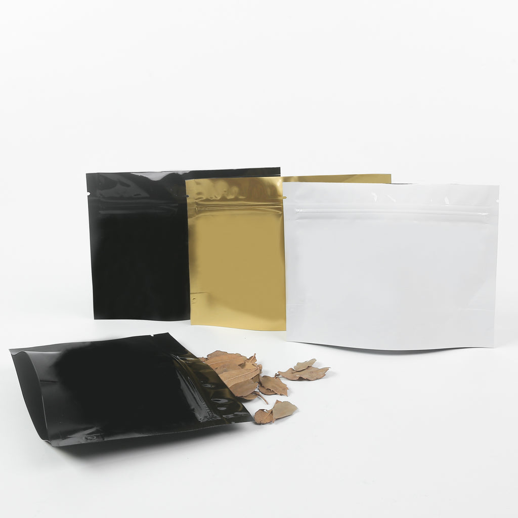 QQ Studio® Double-Sided Glossy Horizontal Mylar Stand Strong™ Bags