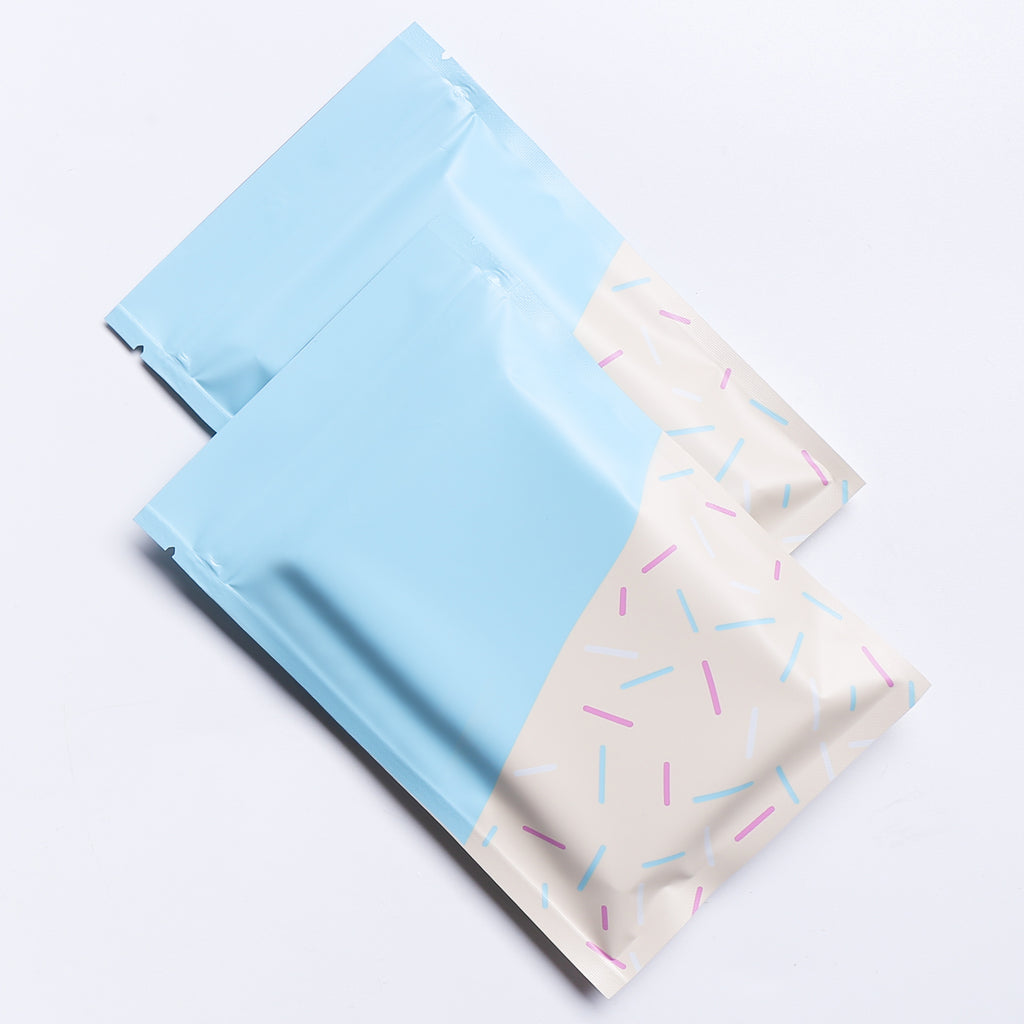 QQ Studio® Birthday Blue Sprinkles Designed Foil QuickQlick™ Bags