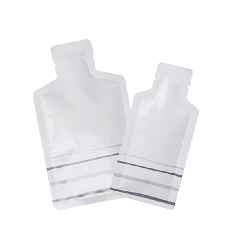 QQ Studio® Glossy Sunscreen White Aluminum Bottle Shape Open Bottom Bags