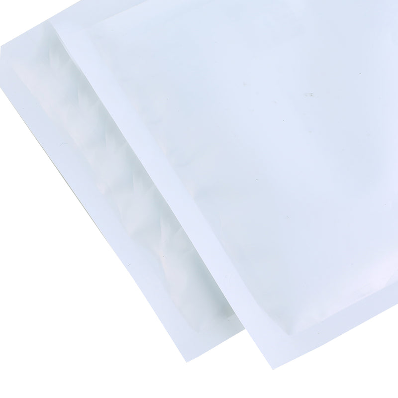 QQ Studio® Clear and Half White Winter Polyethylene Plastic Flat Open Top Bags