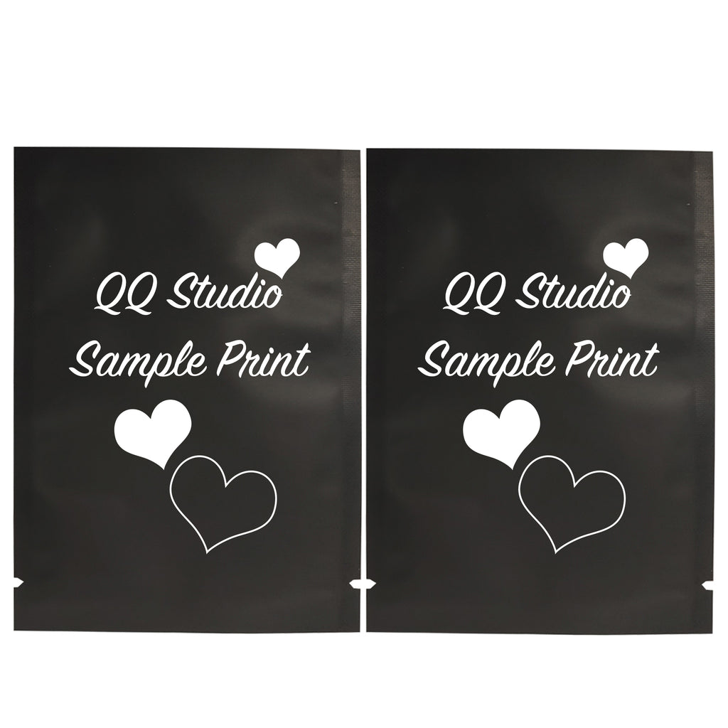 QQ Studio® Matte Mylar Foil Open Fill Bags (Double Side Print)