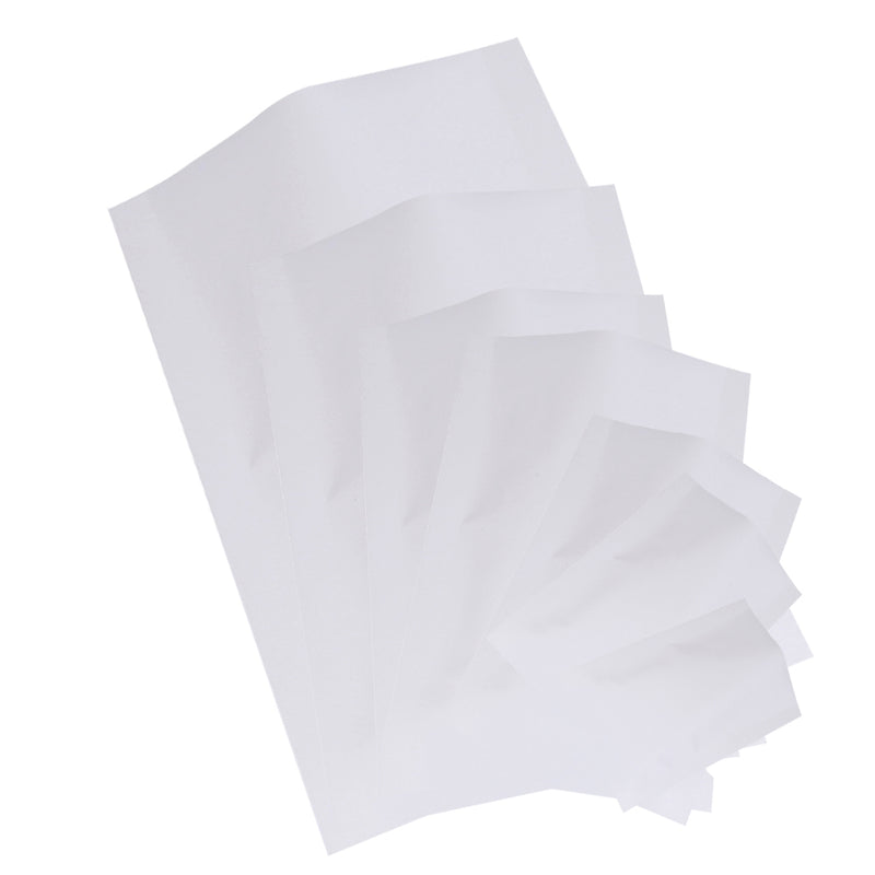 QQ Studio® Matte Cotton White Mylar Foil Open Fill Bags