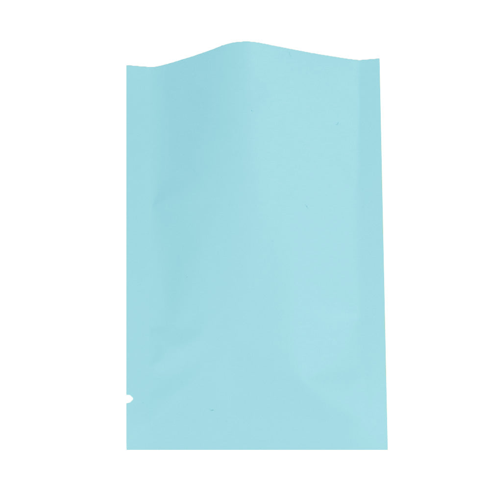 QQ Studio® Matte Powder Blue Mylar Foil Open Fill Bags