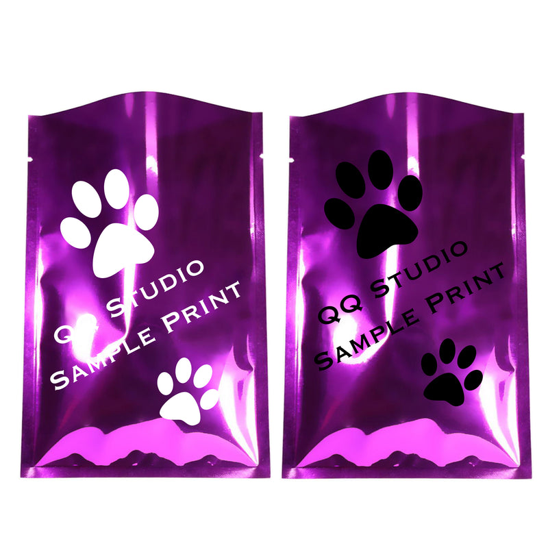 QQ Studio Glossy Mylar Foil Open Fill Bags (Double Side Print)