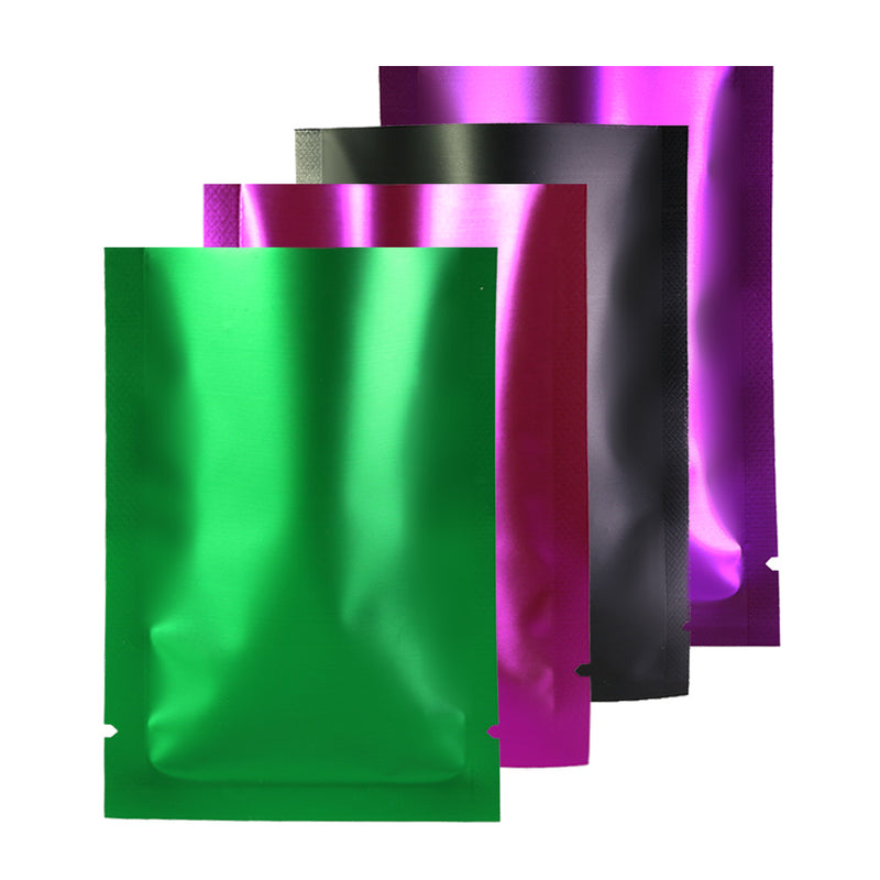 QQ Studio® Transparent Side and Matte Mylar Flat Open Top Bags