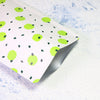 QQ Studio® White with Kiwi Green Polka Dot Aluminum Open Top Bags