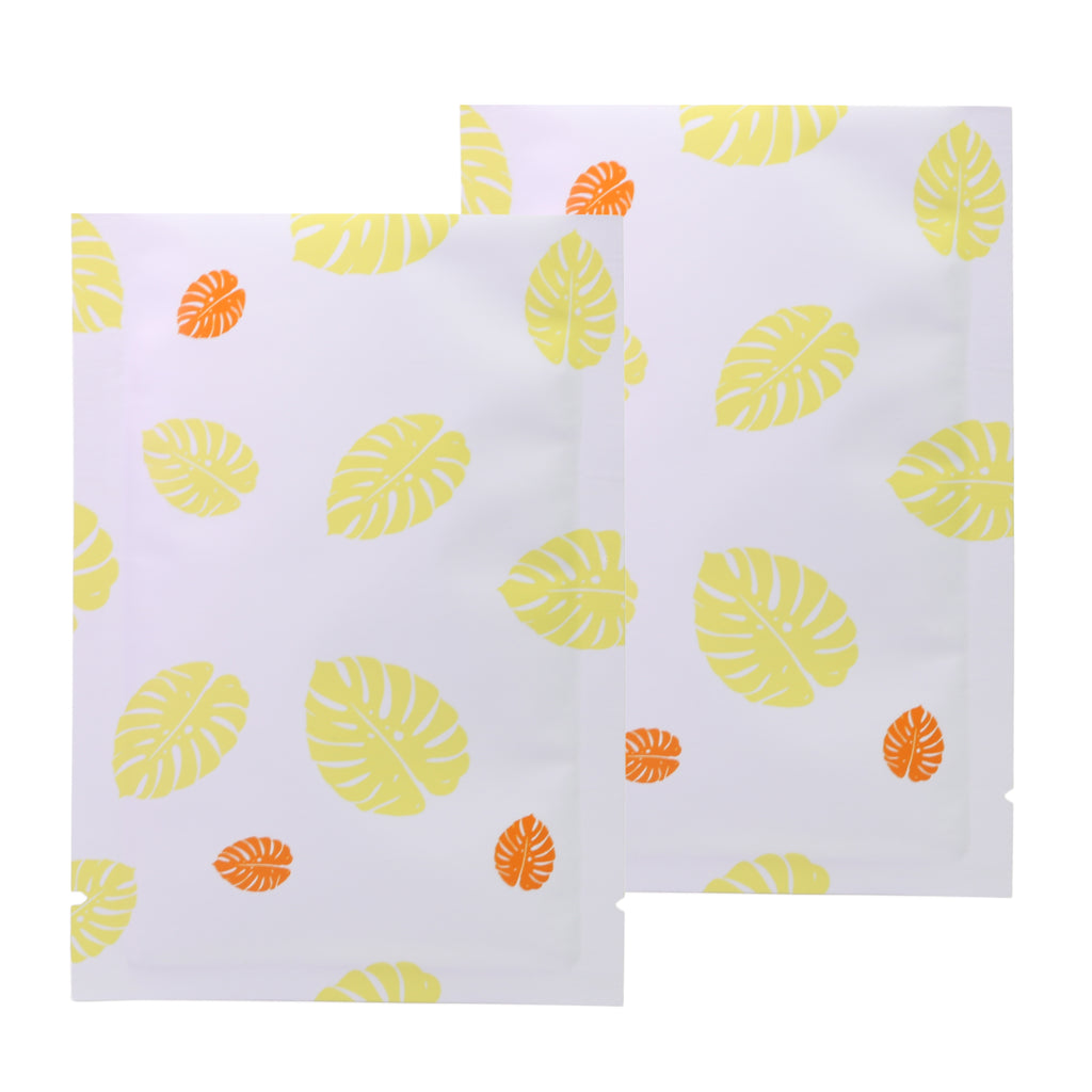 QQ Studio® Autumn Yellow Leaf Design Aluminum Open Top Bags