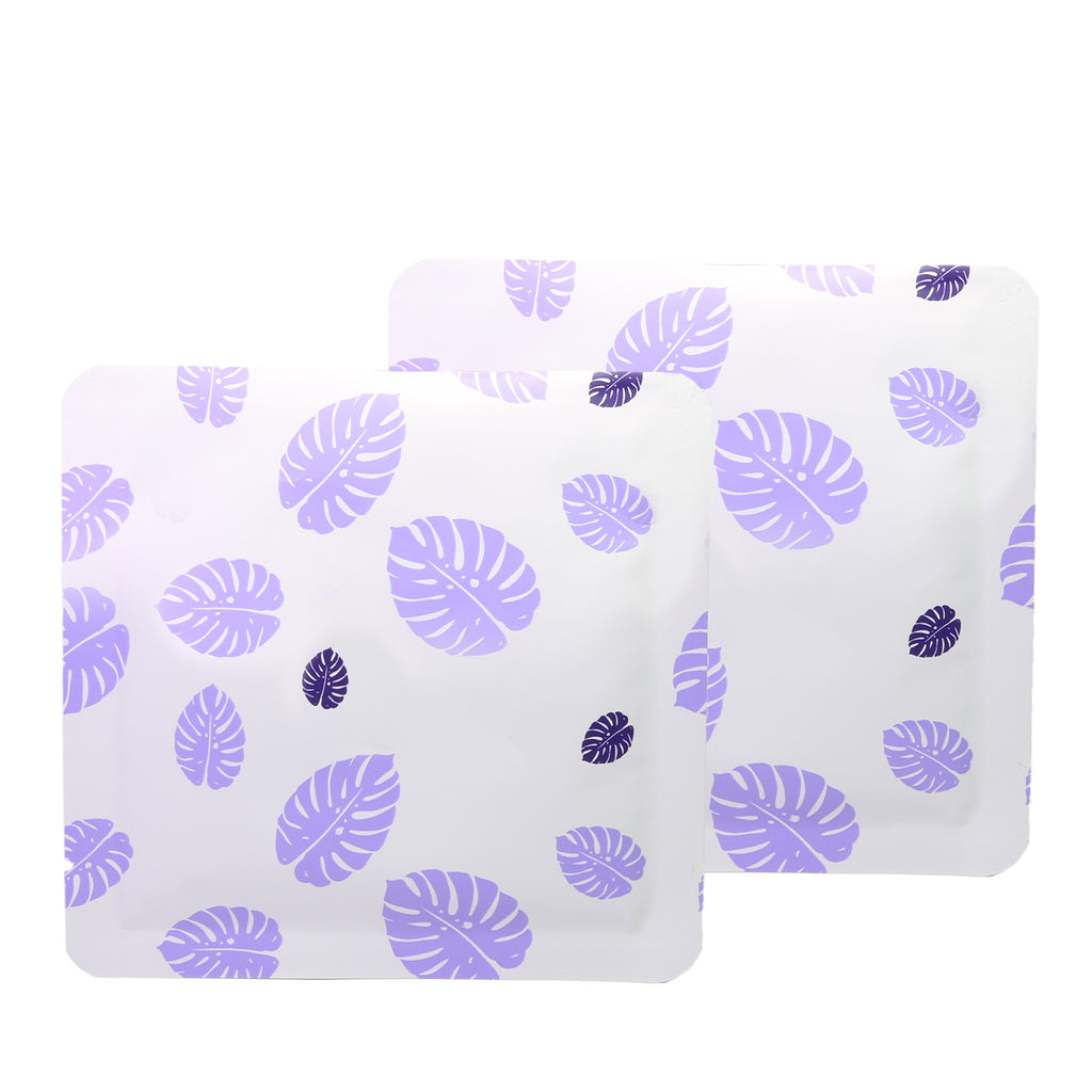 QQ Studio® Lilac Purple Leaf Design Aluminum Open Top Bags