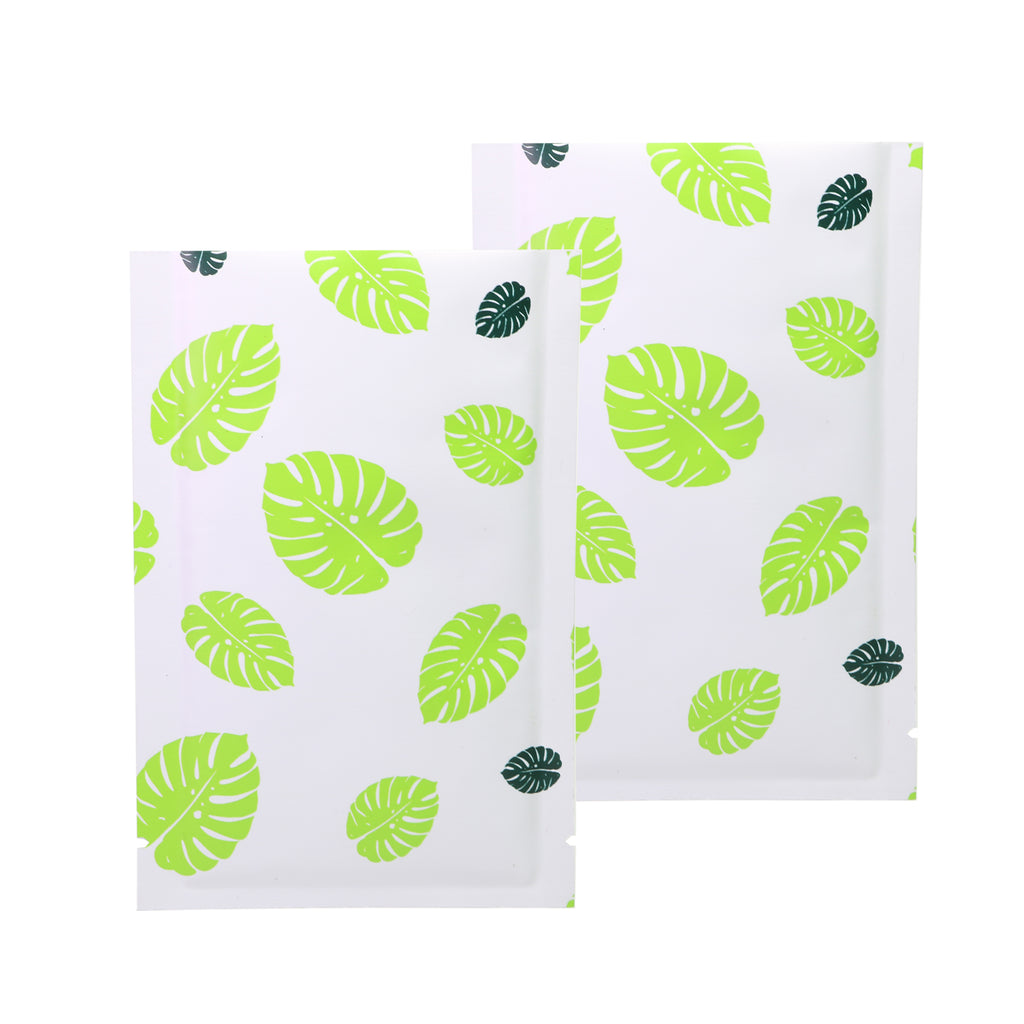 QQ Studio® Tropical Green Leaf Design Aluminum Open Top Bags