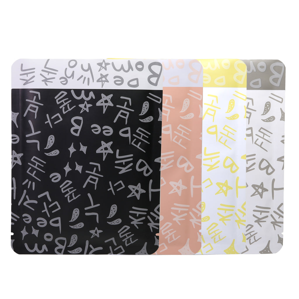 QQ Studio® Graffiti Letters Design Aluminum Open Top Bags