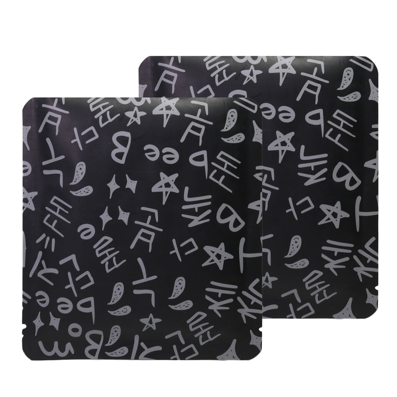 QQ Studio® Graffiti Chalkboard Black Aluminum Open Top Bags