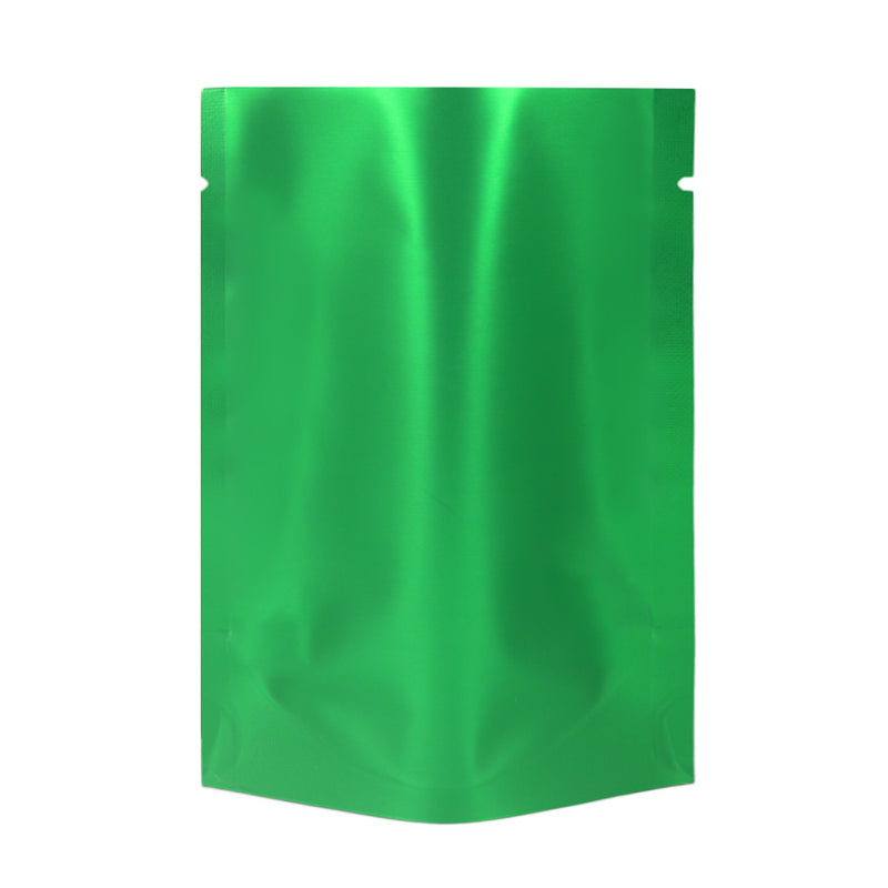 QQ Studio® Matte Jade Green Mylar Open Top Heat Sealable Stand-Up Bag
