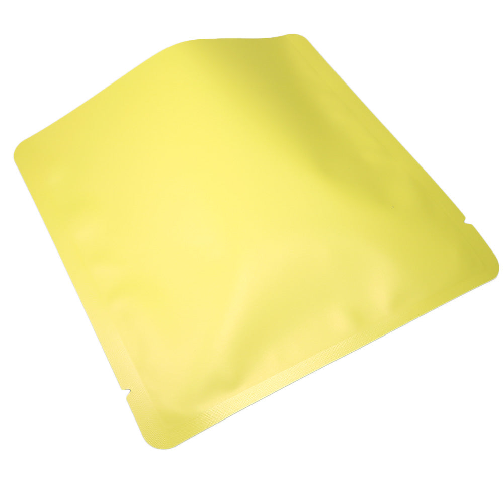 QQ Studio® Matte Cheerful Yellow Aluminum Open Fill Square Bag