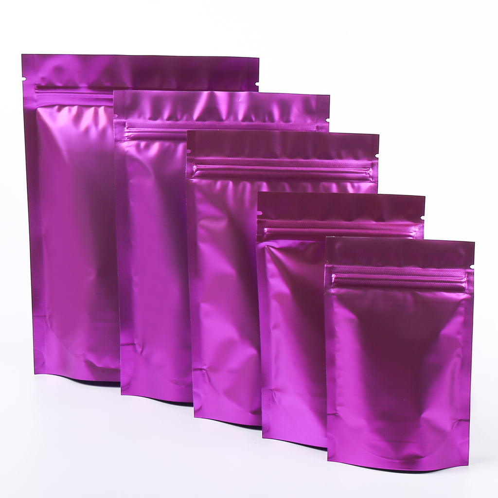 QQ Studio® Matte Amythest Purple Mylar Stand Strong™ Bags