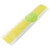 QQ Studio® Glossy Wheat Yellow Metallized Open Top Stick Bag with Round Bakery Design