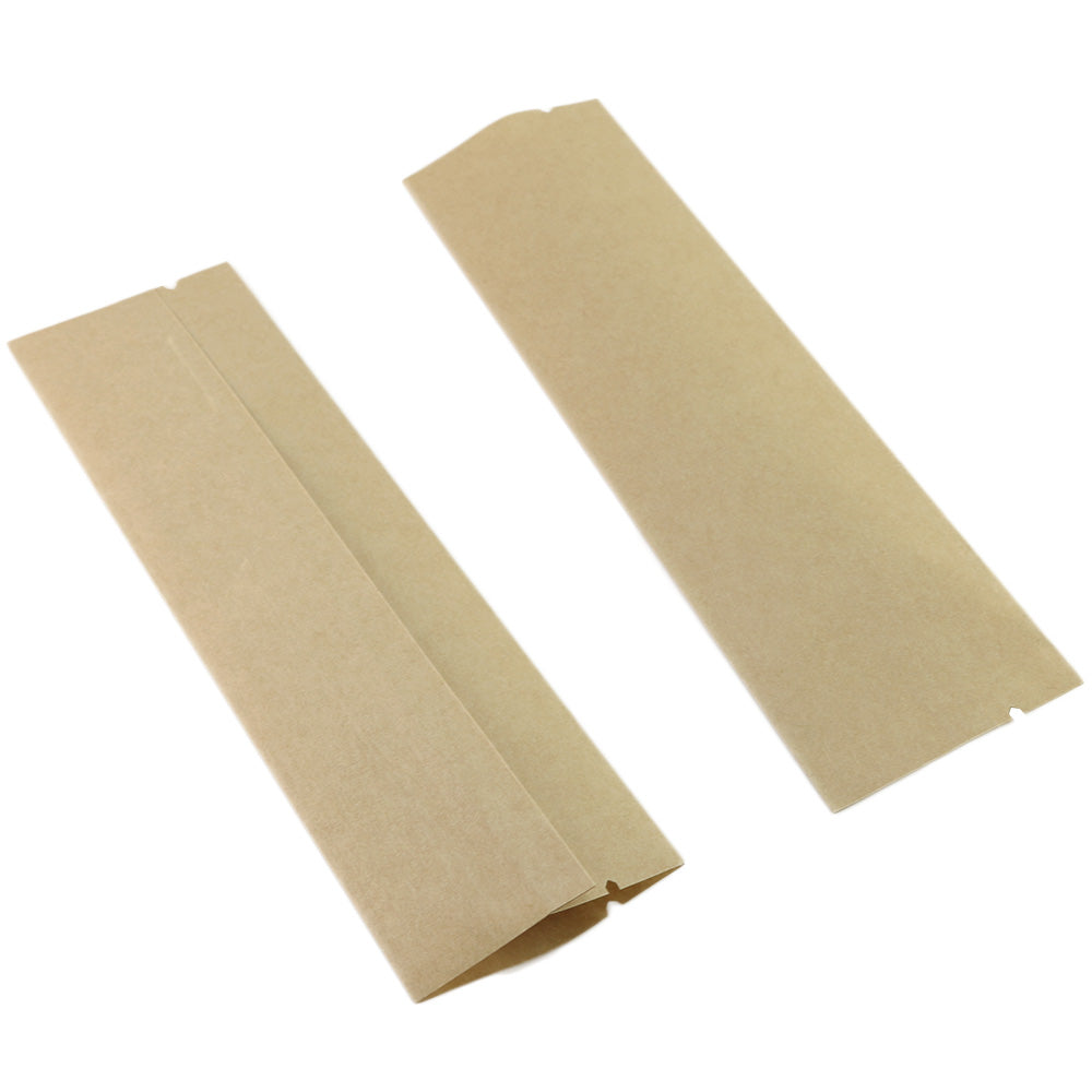 QQ Studio® Long Natural Kraft Open Fill Stick Bag