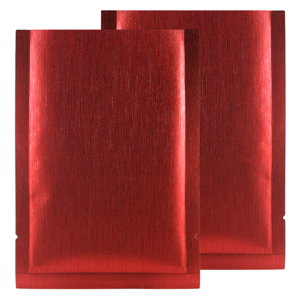 QQ Studio® Shimmery Streaky Red Textured Metallized Foil Open Top Bags