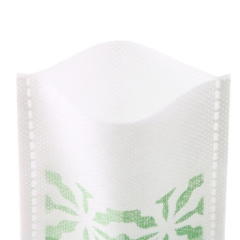 QQ Studio® Green Tea Geometric Design Non-Woven Open Top Bags