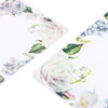 QQ Studio® Botanical White Matte Flower Border Design Open Bottom Bags