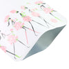 QQ Studio® Rosey White Matte Flower Girl Design Open Bottom Bags