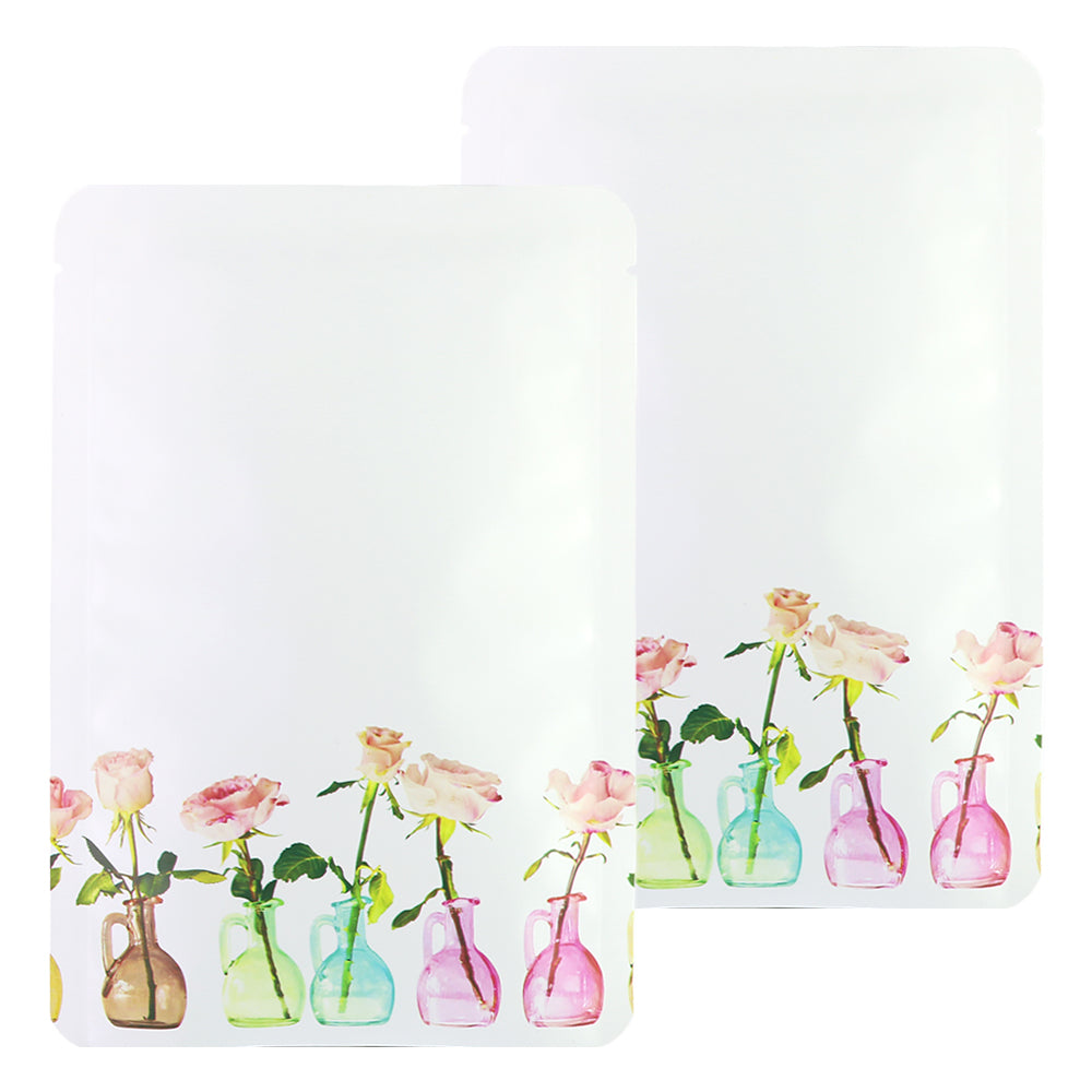 QQ Studio® White Dye Matte Flower Vase Design Open Bottom Bags