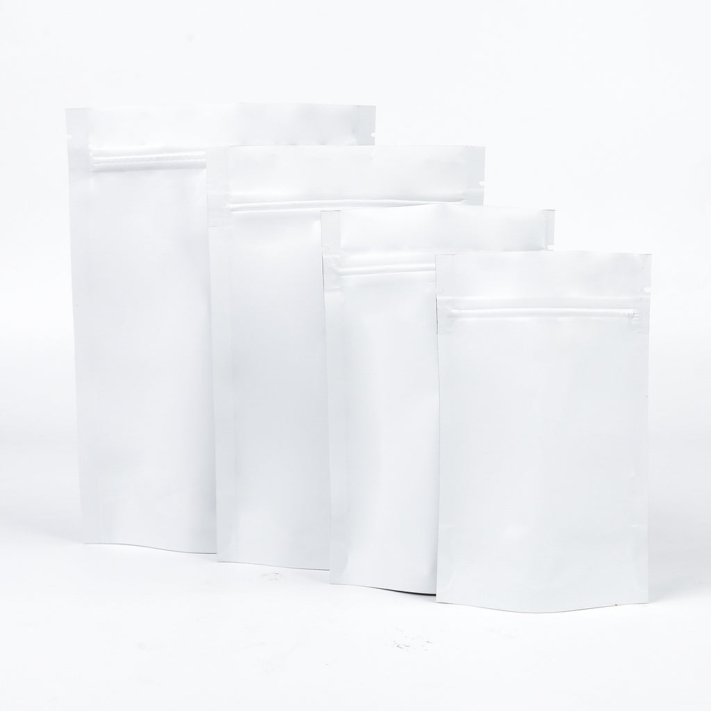 QQ Studio® Matte Winter White Mylar Stand Strong™ Bags