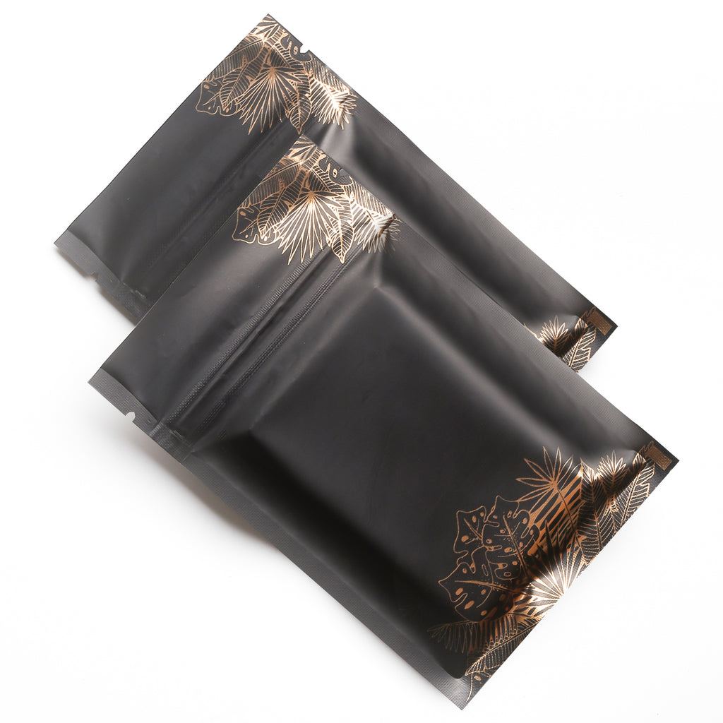 QQ Studio® Blooming Black Gold Leaf Designed Foil QuickQlick™ Bags