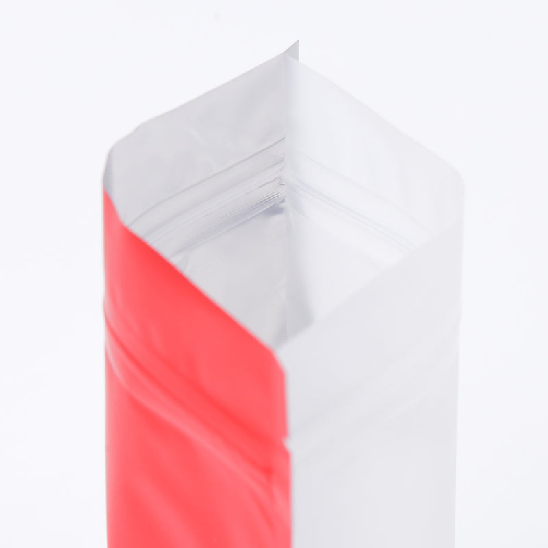 QQ Studio® Matte Half Brick Red Metallic Mylar Stand Strong™ Bags