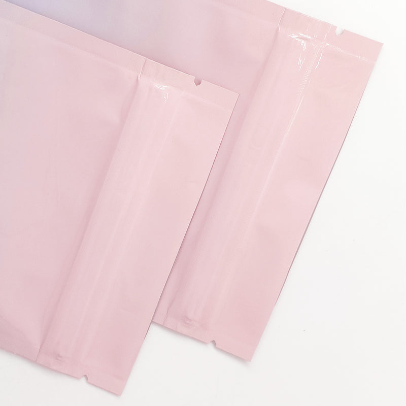 QQ Studio® Glossy Cotton Candy Pink Two-Tone Ombre Gradient Mylar QuickQlick™ Bags