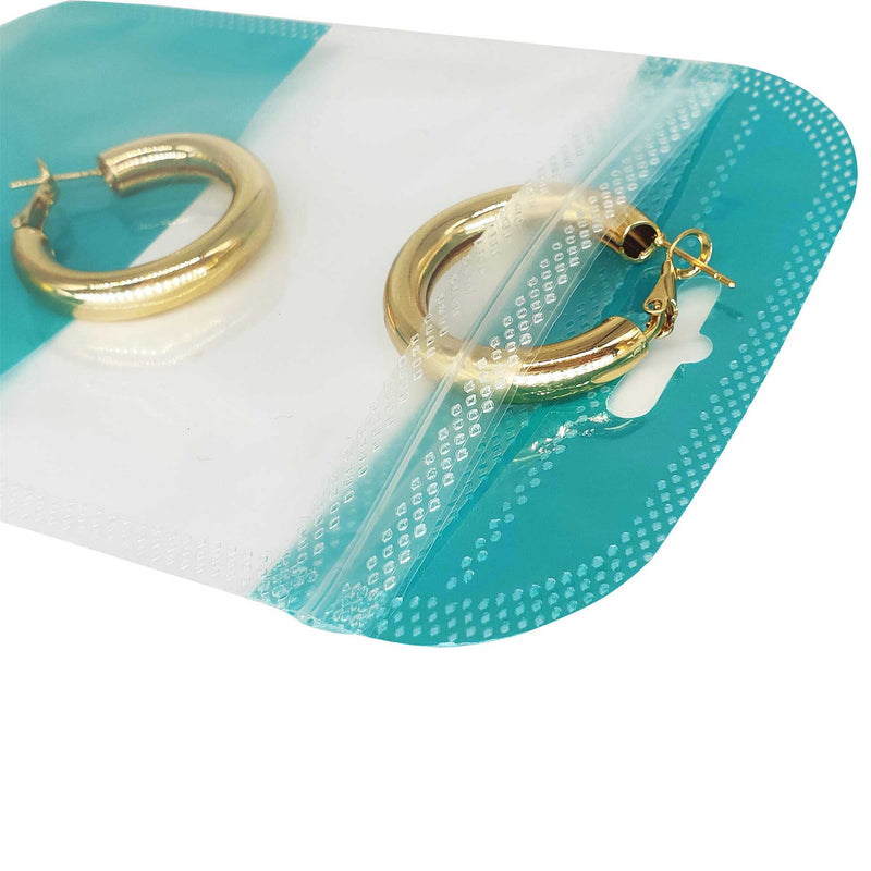 QQ Studio® Glossy Turquoise Green QuickQlick™ Bags with Butterfly Hang Hole