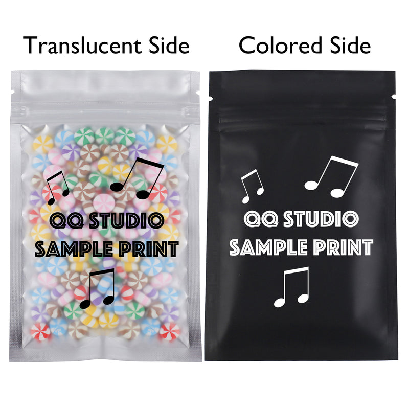 QQ Studio® Single Side Matte Color Metallic Mylar Flat QuickQlick™ Bags (Double Side Print)