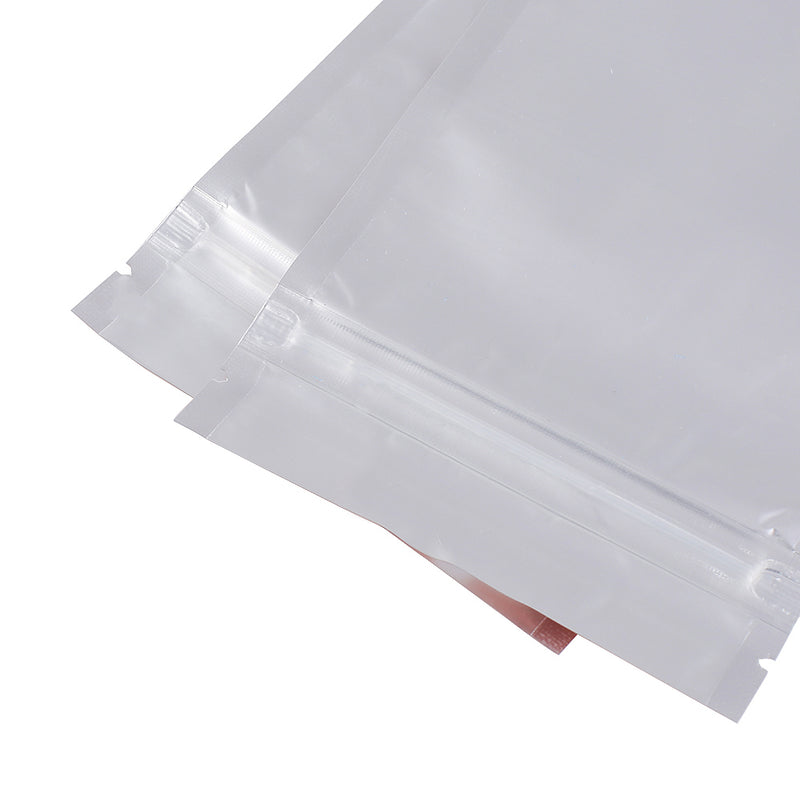 QQ Studio® Half White Winter Metallic Mylar Flat QuickQlick™ Bags