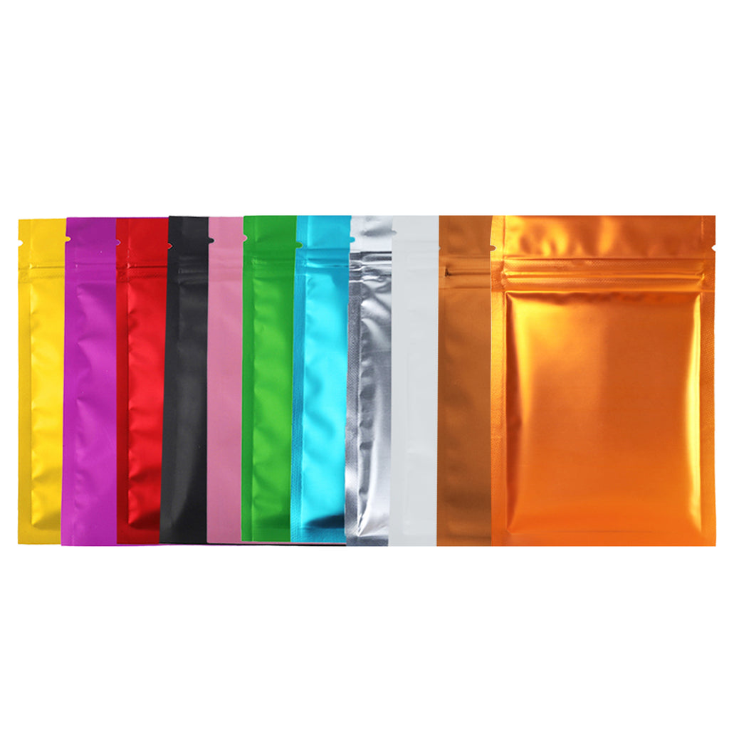 QQ Studio® Single Side Matte Color Metallic Mylar Flat QuickQlick™ Bags