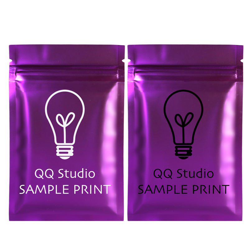QQ Studio® Double Sided Color Matte Metallized Mylar Foil QuickQlick™ Bags (Double Side Print)