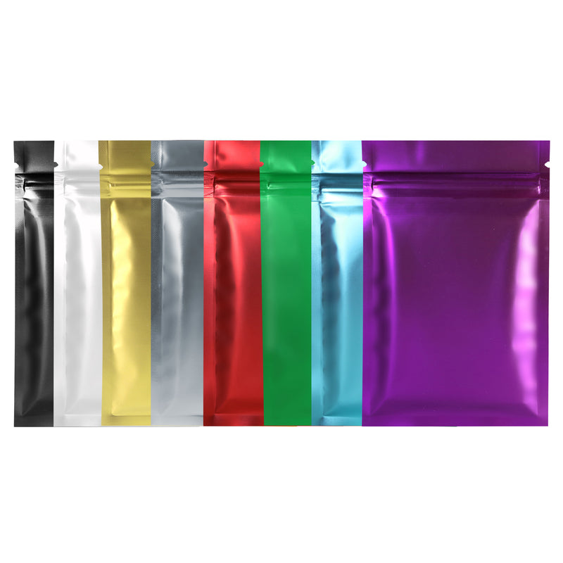 QQ Studio® Double Sided Color Matte Metallized Mylar Foil QuickQlick™ Bags (Single Side Print)