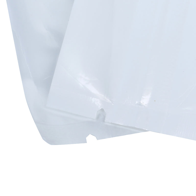 QQ Studio® Glossy Clear Front and Half Polar White Polyethylene Flat QuickQlick™ Bags with Hang Hole