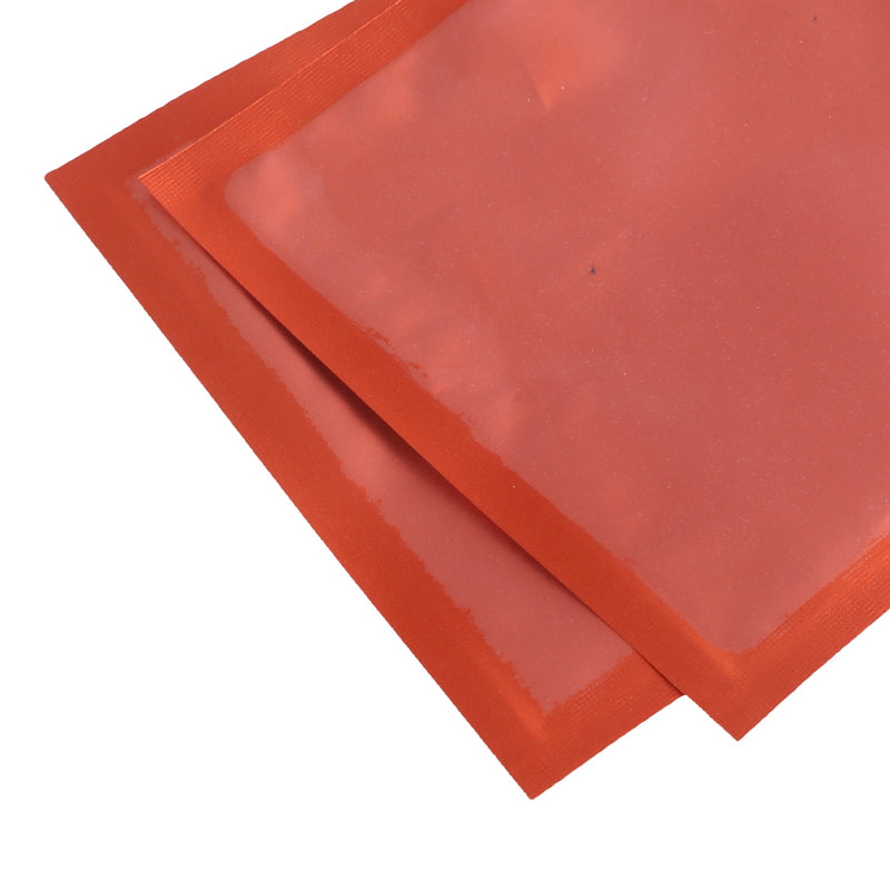 QQ Studio® Matte Half Citrus Orange Window with Inner Color Mylar Flat QuickQlick™ Bags