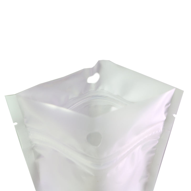 QQ Studio® Half Frosty White Flat Plastic QuickQlick™ Bags with Hang Hole