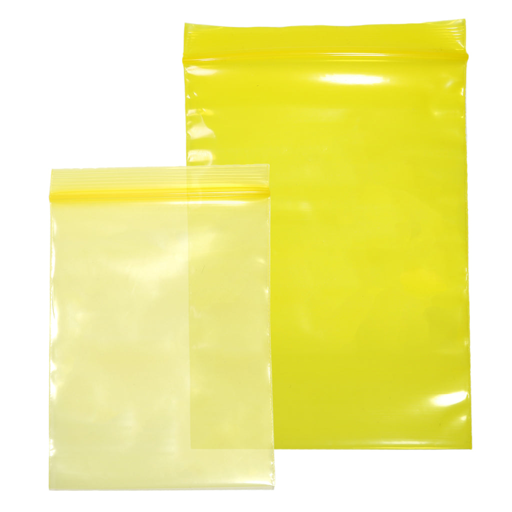 QQ Studio® Glossy Lemonade Yellow Soft Plastic Storage QuickQlick™ Bags