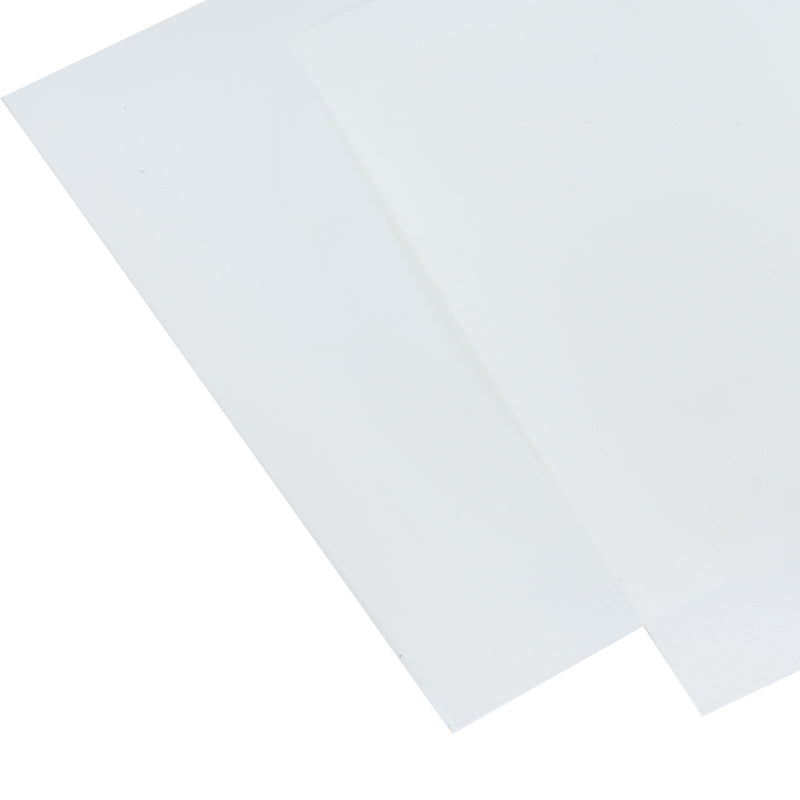 QQ Studio® Glossy Half Laminated White Window Display Polyethylene QuickQlick™ Bags