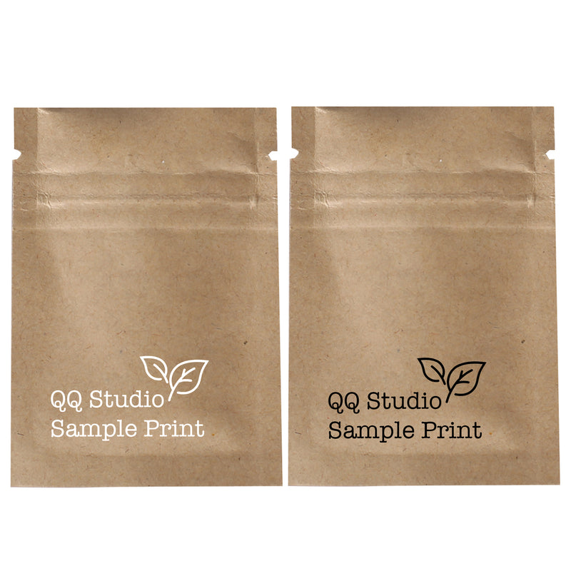 QQ Studio® Vintage Brown Double Sided Kraft Flat QuickQlick™ Bags (Double Side Print)