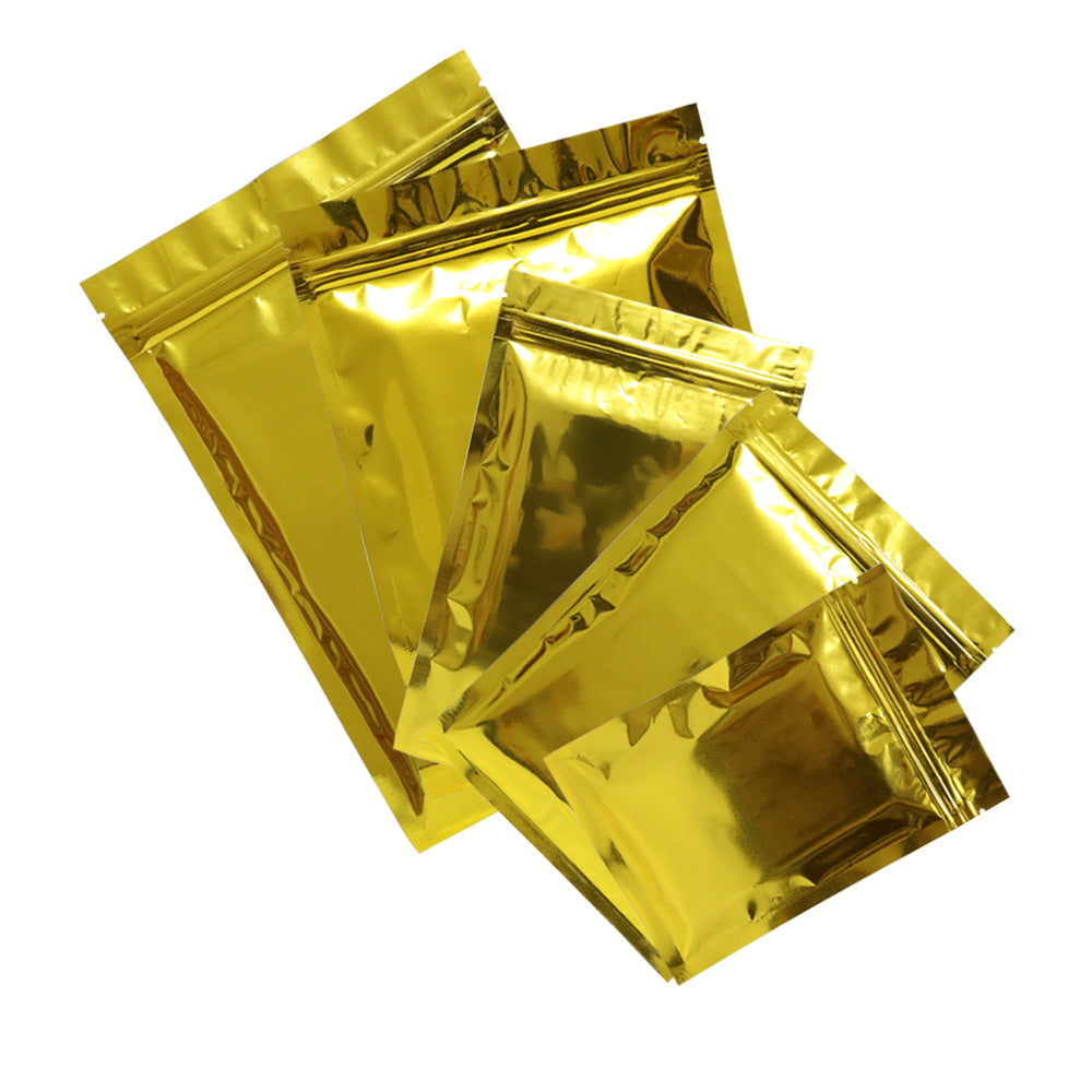 QQ Studio® Smooth Glossy Metallic Gold Double-Sided Mylar QuickQlick™ Bags
